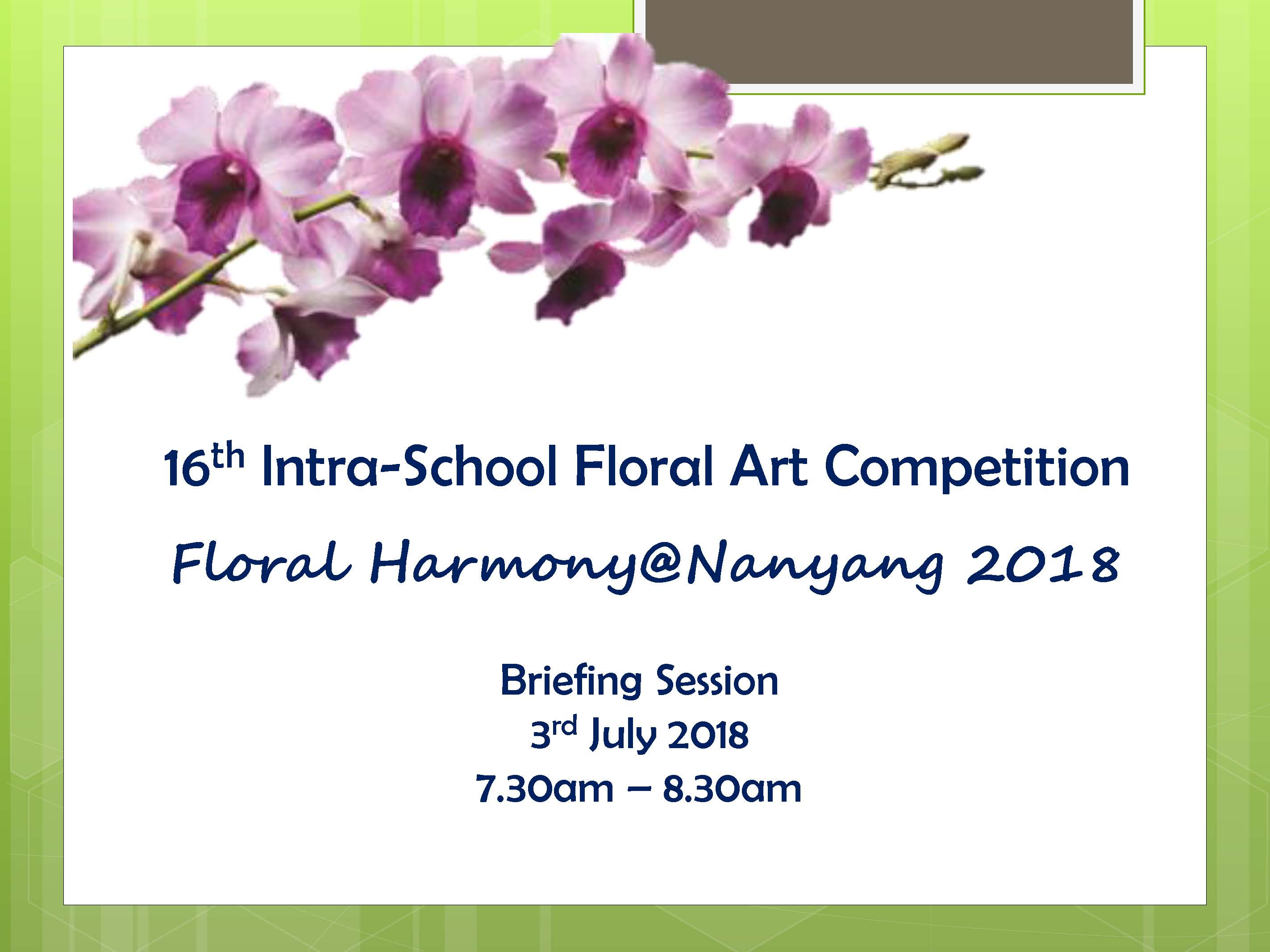 16th Intra-School Floral Art Competition Briefing